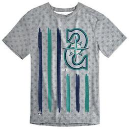Seattle Mariners Big Logo Flag Tee by Forever Collectibles