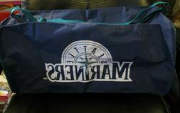 """SEATTLE MARINERS Blue/Green Silver Sports Duffel Bag 18"""" L x"""