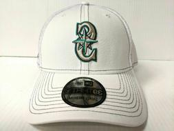 Seattle Mariners Cap New Era 39Thirty Stretch Fit Mesh White