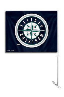 Seattle Mariners Car Flag with Pole  MLB Auto Truck Tailgate