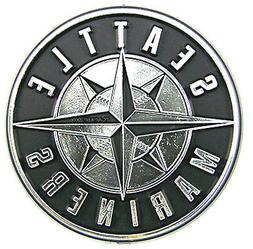 Seattle Mariners CE Silver Chrome Colored Raised Auto Emblem