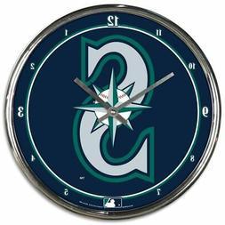 Seattle Mariners WinCraft Chrome Wall Clock