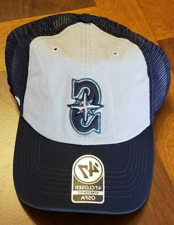 SEATTLE MARINERS CLOSER HAT CAP STRETCH FIT MENS ONE SIZE