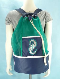 Seattle Mariners Cooler Backpack Drawstring Travel Bag Insul
