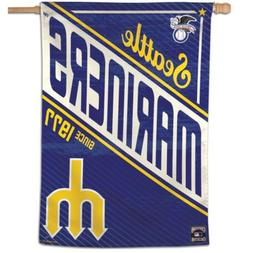 "SEATTLE MARINERS COOPERSTOWN COLLECTION 28""X40"" BANNER FLAG"