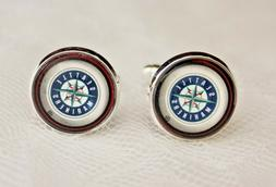 Seattle Mariners Cuff Links made from Baseball Trading Cards