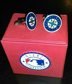 MLB Seattle Mariners Cufflinks, Officially Licensed
