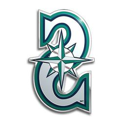 seattle mariners die cut color auto emblem