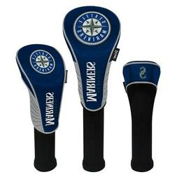SEATTLE MARINERS EMBROIDERED LOGO DRIVER FAIRWAY HYBIRD SET