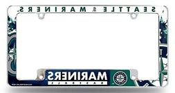 Seattle Mariners EZ View All Over Chrome Frame Metal License