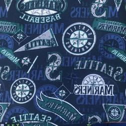 Seattle Mariners Fabric Cotton 1/4 Yard Baseball MLB major L