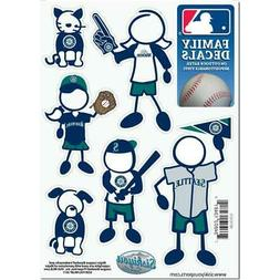 Seattle Mariners Family Decals 6 Pack  MLB Small Auto Car St