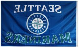 SEATTLE MARINERS FLAG 3'X5' MLB BANNER