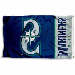 SEATTLE MARINERS FLAG 3'X5' MLB BANNER: FAST FREE SHIPPING