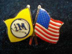 Seattle Mariners Flag/Banner Pin