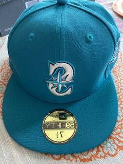 Seattle Mariners Green 2001 Allstar Game Fitted Hat Size7 1/