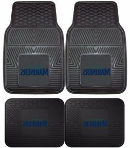 Seattle Mariners Heavy Duty Floor Mats 2 & 4 pc Sets for Car