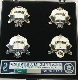 Seattle Mariners Jersey Evolution Limited Edition 4 Pin Set