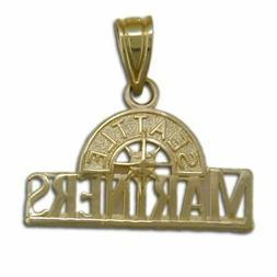 Seattle Mariners logo 14 kt Gold Medium Pendant