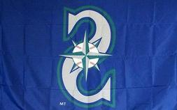 seattle mariners logo 3 x 5 banner