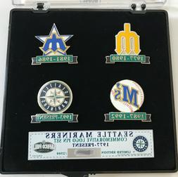 Seattle Mariners Logo Evolution Limited Edition 4 Pin Set