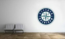 Seattle Mariners Logo Wall Decal MLB Baseball Decor Sport Ar