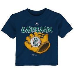 "Seattle Mariners Majestic MLB Infant Navy Blue ""Boy Baseball"
