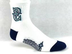 Seattle Mariners Men's Quarter Socks White