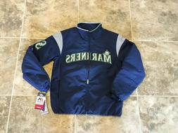 Majestic Seattle Mariners Mens Jacket Therma Base Navy Baseb