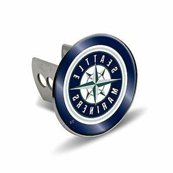 """Seattle Mariners Metal 2"""" Trailer Hitch Cover Laser Cut Acry"""