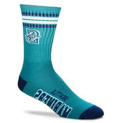 Seattle Mariners For Bare Feet MLB 4 Stripe Deuce Crew Socks