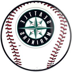 "Seattle Mariners MLB Baseball 12"" Round Metal Sign Sports Em"