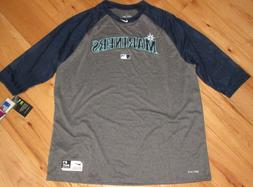 NIKE Seattle Mariners MLB Baseball dri-fit Legend 3/4 slv sh
