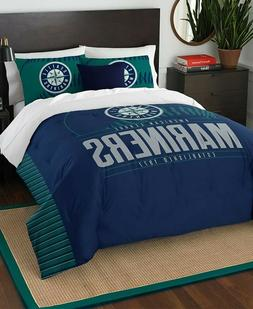 Seattle Mariners MLB Baseball Twin Size Bed Comforter Pillow