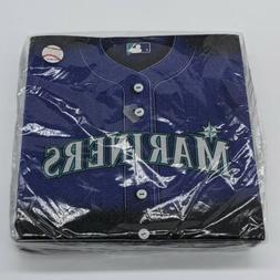 Seattle Mariners MLB Baseball Jersey Print Napkins Sports Pa