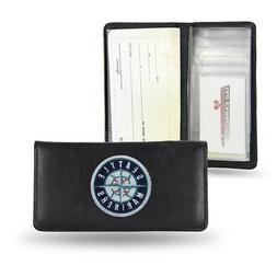 Seattle Mariners MLB Embroidered Team Logo Leather Checkbook