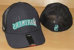 NIKE SEATTLE MARINERS MLB MESH BACK FLEX FITTED HAT CAP MEN'