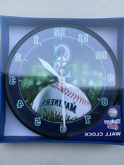 Seattle Mariners MLB Round Wall Clock/Thermometer