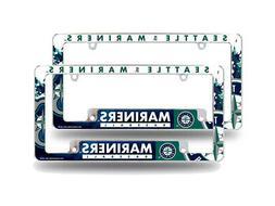 Seattle Mariners MLB  Chrome Metal License Plate Frames w/ B