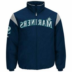 Majestic Seattle Mariners Navy On-Field Therma Base Thermal