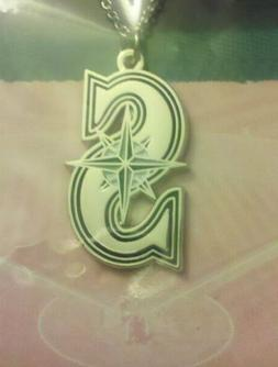 Seattle Mariners Necklace w/ Logo Pendant Mother's Day chain
