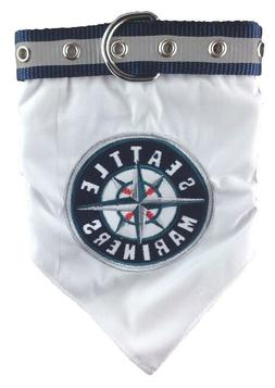 Seattle Mariners Pet Bandana Collar; Large Fits Neck Size 18