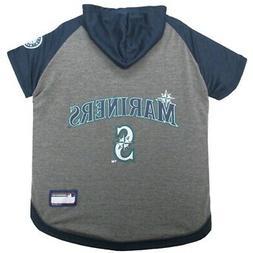 Seattle Mariners Pet Hoodie T-Shirt - Medium