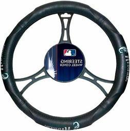Seattle Mariners Premium Rubber Grip Black Steering Wheel Co