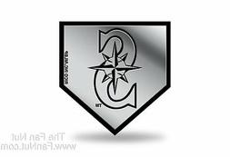 Seattle Mariners Rico Silver Chrome Color Molded Plastic Aut