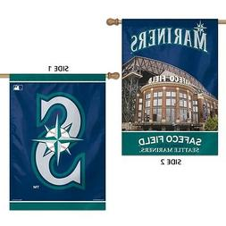 "SEATTLE MARINERS SAFECO FIELD 28""X40"" DOUBLE SIDED BANNER FL"