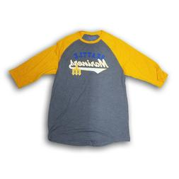 "Seattle Mariners Seattle Mariners"" Men's 3/4's Sleeve Gray T"