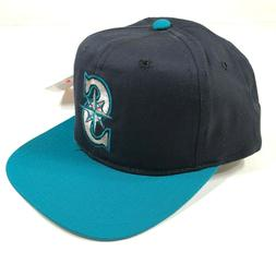 Seattle Mariners Snapback Hat Cap Navy Blue Teal Youth Kids