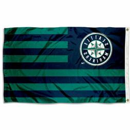 Seattle Mariners Stars and Stripes Nation Flag