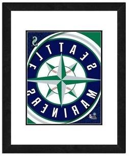 Photo File Seattle Mariners Team Logo Framed Print Picture A